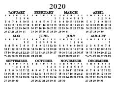 Wallet Calendar 2020 2020 Wallet Calendar – International Bible House