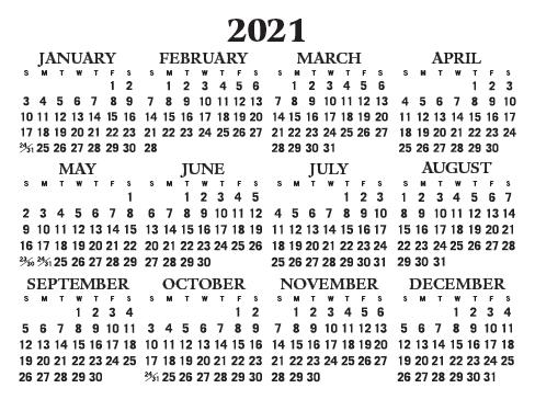 2021 Wallet Calendar – International Bible House